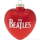 The Beatles Heart Glass Ornament