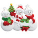 3 - Snow Family Personalized Ornament