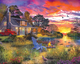 Evening Cabin Puzzle by White Mountain