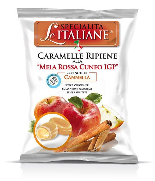 Red Apple From Cuneo Pgi Hard Filled Candy (3.52  Oz   100 g)