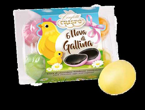 Sugar Coated Dark Chocolate Easter Egg Cluster