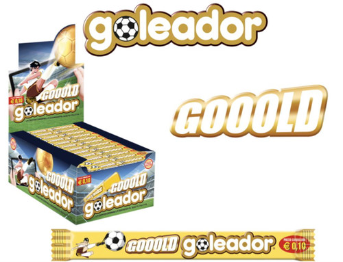 Goleador Gooold (Mango & Peach) 200Pc Counter Display