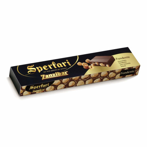 Sperlari Zanzibar Dark Chocolate with Hazelnuts Bar 10.59 Oz.