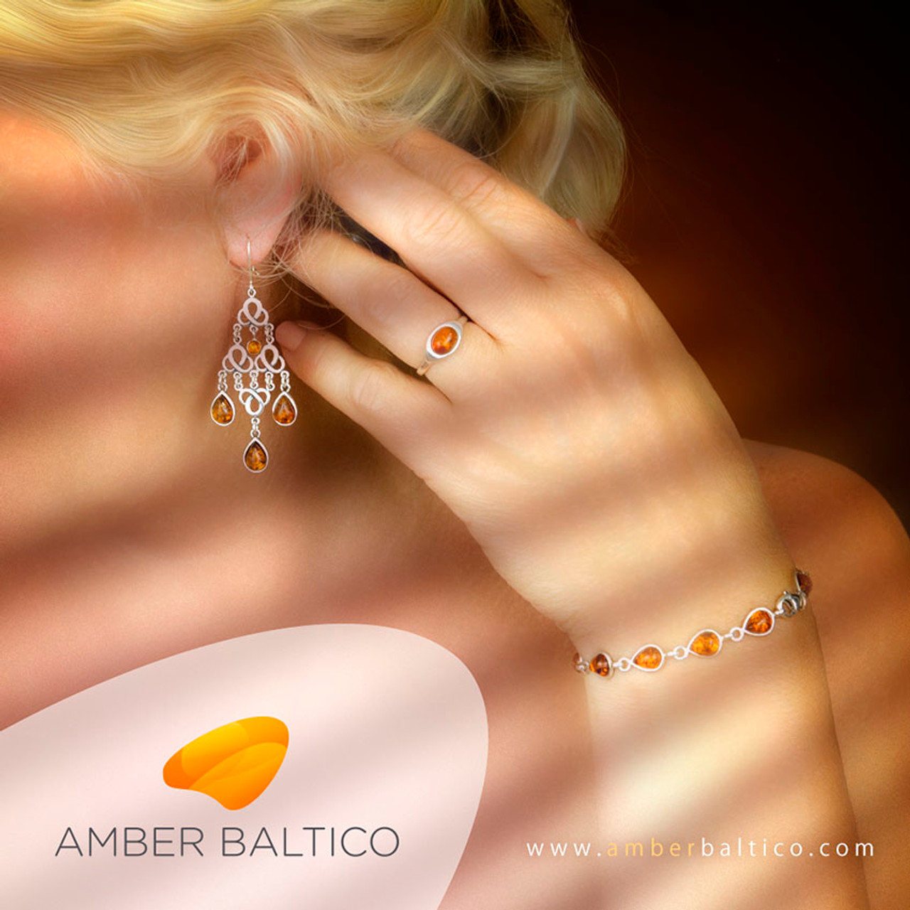 95ac21685f Baltic amber jewelry set. Amber teardrops. Honey amber and sterling silver.  Silver amber