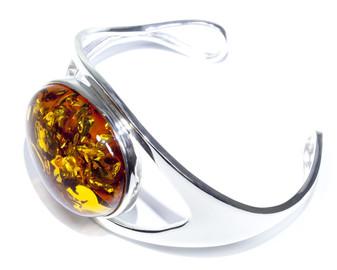 Silver Amber handmade bracelet
