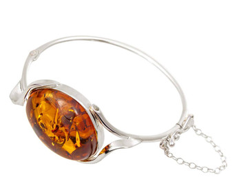 Baltic amber bangle bracelet