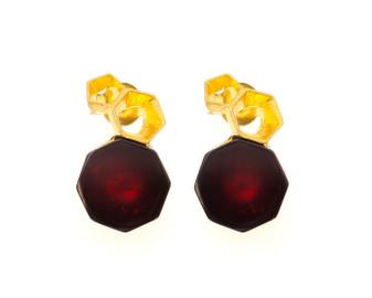 Honeycomb Amber Earrings