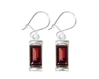 Cherry Amber Simple Earrings