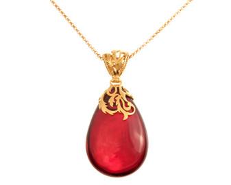 Cherry Red Amber Neklace