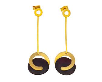 Long Dangle Drop Amber Earrings