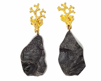 Black Amber Statement Jewelry