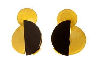 Amber Gold Plated Silver Lago Earrings