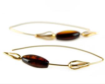 Amber Threader Earrings