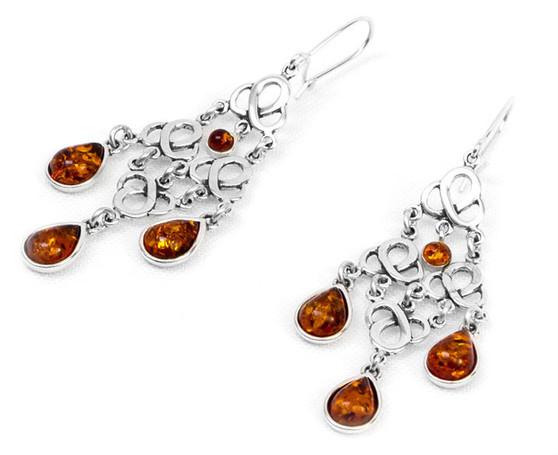 A beautiful, elegant earrings.  A thoughtful gift for anyone who loves jewellery. Lovely jewels, bijou. Interwoven jewelry. Boho style earrings.