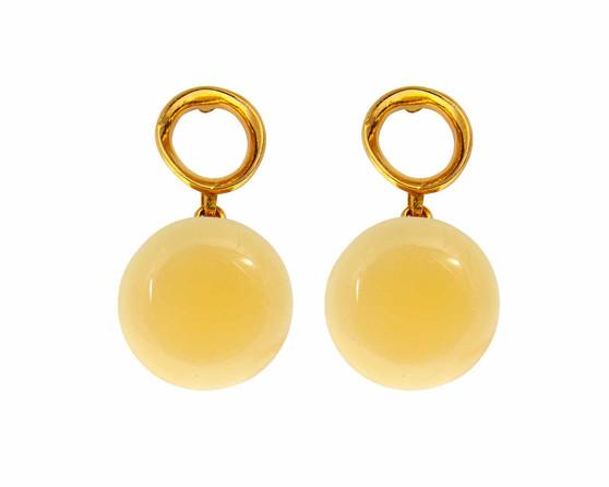 Butterscotch Amber Elegant Drop Earrings
