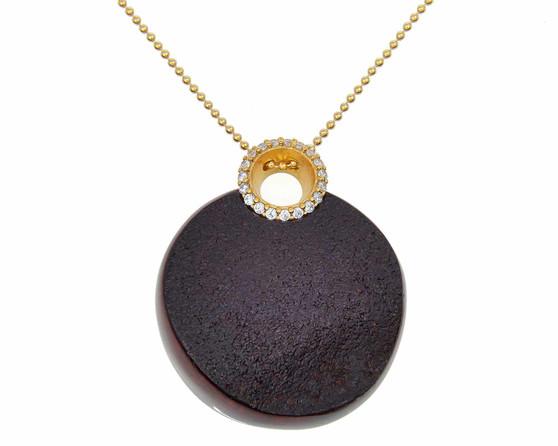 Black Amber Statement Necklace
