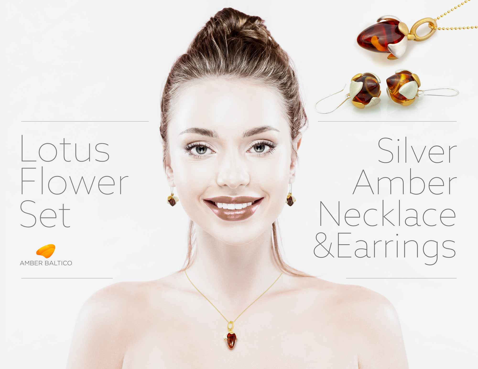 Amber Earrings, Amber Necklace, Amber Jewelry