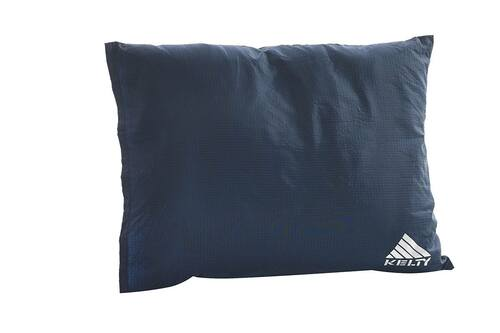 Kelty Camp pillow, blue with white Kelty logo