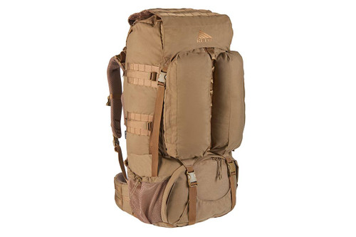 Kelty Eagle Backpack, Coyote Brown, with lid not packed and removable side pocket not attached