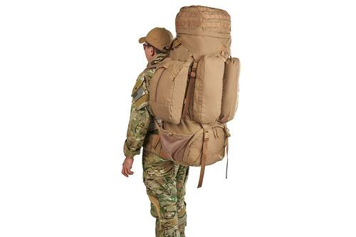 Soldier wearing Kelty Eagle Backpack, Coyote Brown