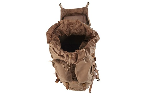 Kelty Eagle Backpack, Coyote Brown, top view, opened to show interior of pack