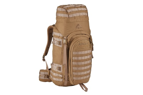 Kelty Falcon 4000 backpack, Canyon Brown, with lid fully packed