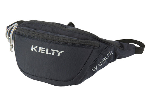 Black - Kelty Warbler waist pack, shown fully zipped