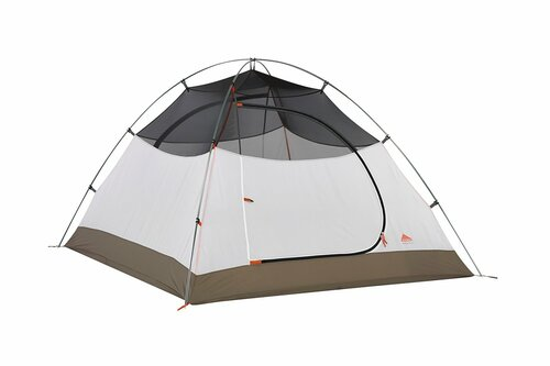 Kelty Outfitter Pro 3 person tent, white/tan, shown with rain fly removed