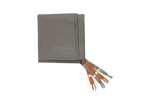 Kelty Outfitter Pro 2 Footprint, tan, with orange and grey attachment points