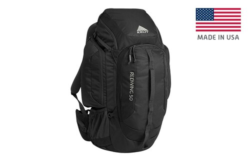Black - Kelty Redwing 50 USA backpack, front view