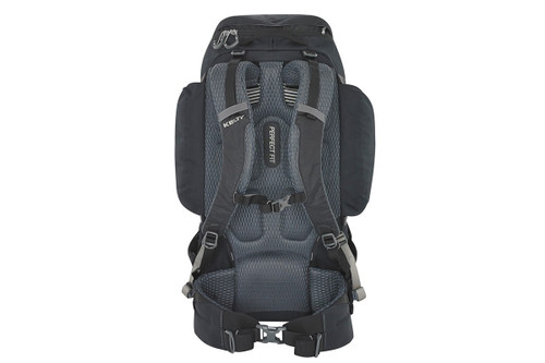 Kelty Redwing 50 backpack, rear view, showing padded shoulder straps and waistbelt