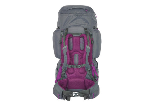 Women's Coyote 70 backpack, gray, side view