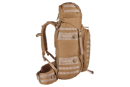 Kelty Falcon 4000 USA backpack, Canyon Brown, side view