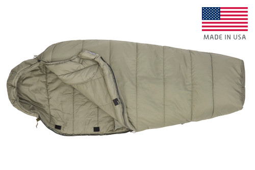Kelty VariCom Gamma USA  sleeping bag, unzipped quarter length