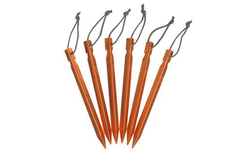 Kelty Y Stakes, orange, set of 6