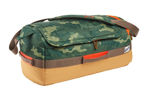 Green Camo/Canyon Brown - Kelty Dodger Duffel bag, front view