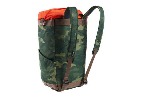 Kelty Hyphen Pack-Tote, Green Camo, rear view, showing padded backpack straps