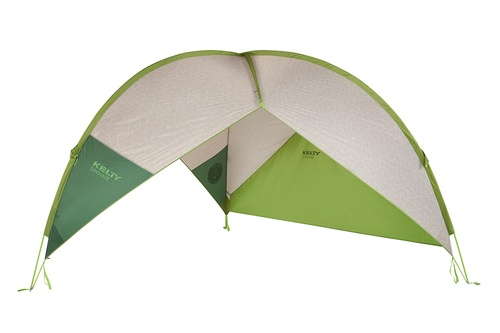 Kelty Sunshade With Side Wall, green, shown with side wall attached
