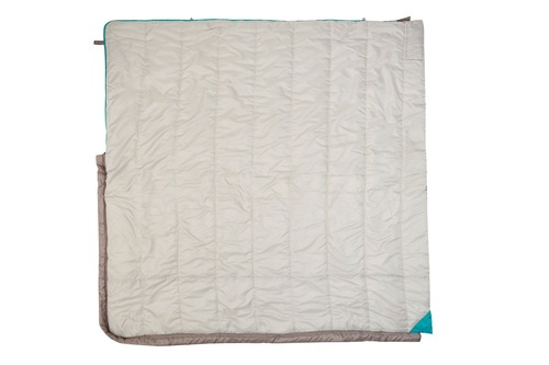 Kelty Women's Callisto 30 sleeping bag, taupe, fully unzipped