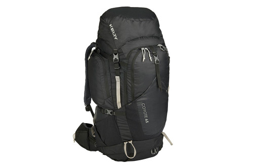 Black - Kelty Coyote 65 backpack, front view