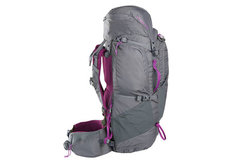Kelty Women's Coyote 60 backpack, gray, side view