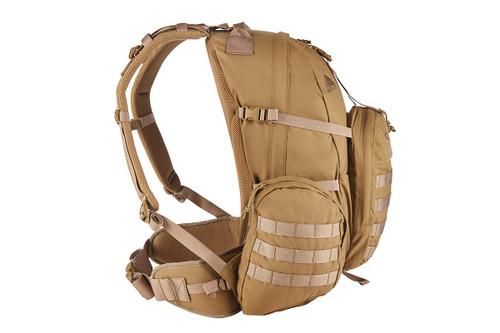 Strike 2300 backpack, Coyote Brown, side view