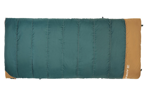 Kelty Callisto 30 sleeping bag, green, closed