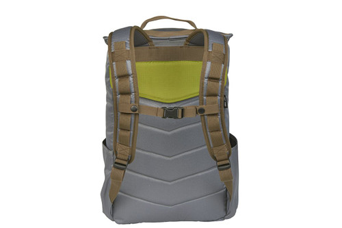 Kelty Ardent backpack, Castle Rock colorway, rear view showing padded shoulder straps and sternum strap
