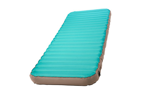 Kelty Tru.Comfort Camp Bed Single, turquoise, top view, shown at an angle