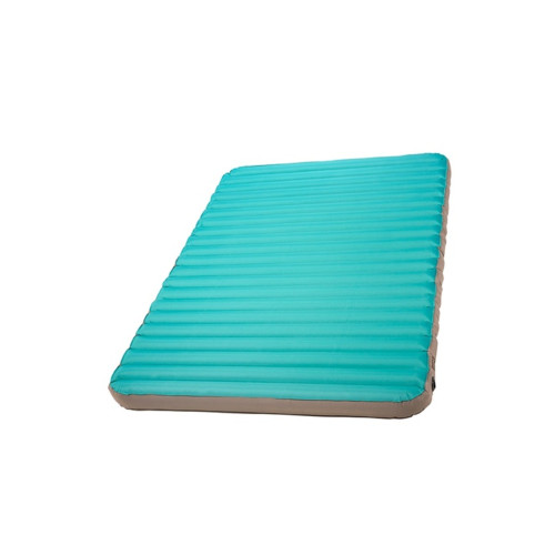 Kelty Tru.Comfort Camp Bed Double, turquoise, top view, shown at an angle