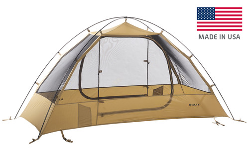 Kelty 2 Man Field Tent Coyote Brown with rain fly removed