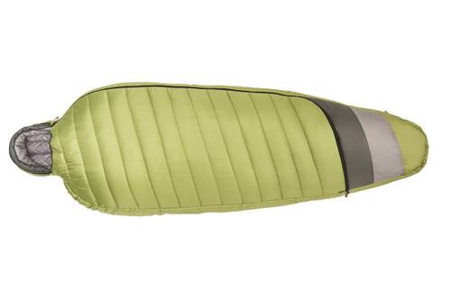 Kelty Tuck 20 Degree Sleeping Bag, lime green/gray, shown fully zipped
