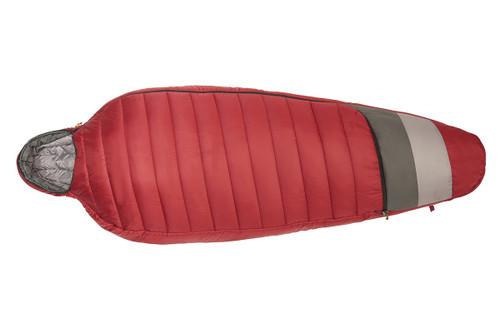 Kelty Women's Tuck 20 Degree Sleeping Bag, red, fully zipped