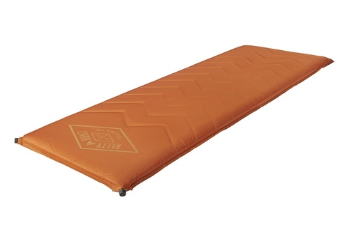 Kelty Galactic Sleeping Pad, orange, shown at an angle